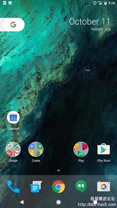 Google Pixel手机Launcher桌面.jpg