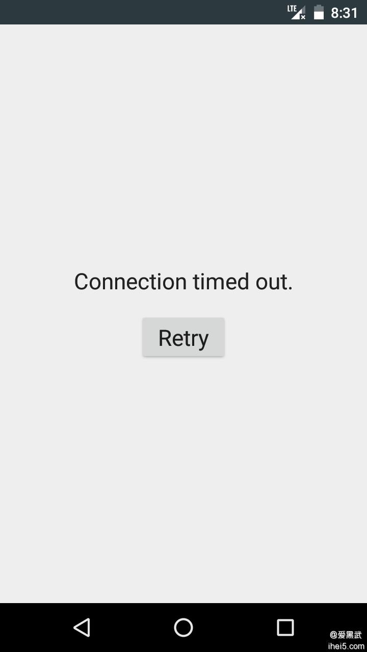 今天数据图标那里有一个叉,Google不能联网
